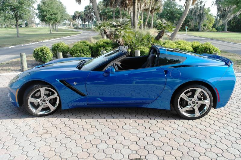 2014 blue corvette 3lt for sale sarasota florida. Black Bedroom Furniture Sets. Home Design Ideas